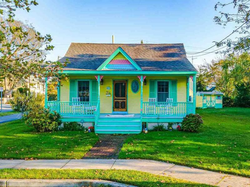 Colorful house in Cape May