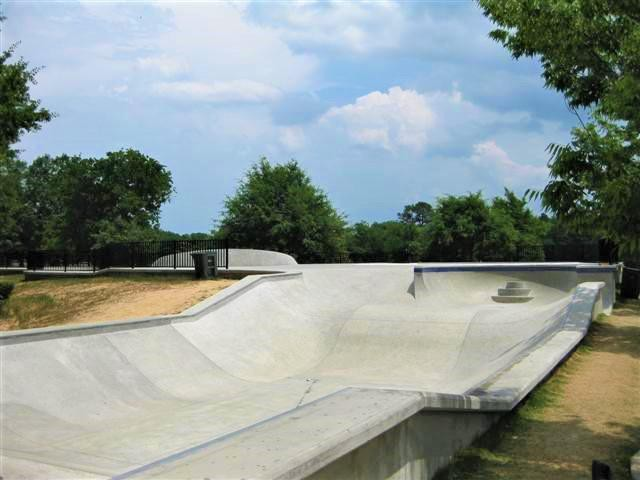Owens Field Skatepark near Columbia, South Carolina
