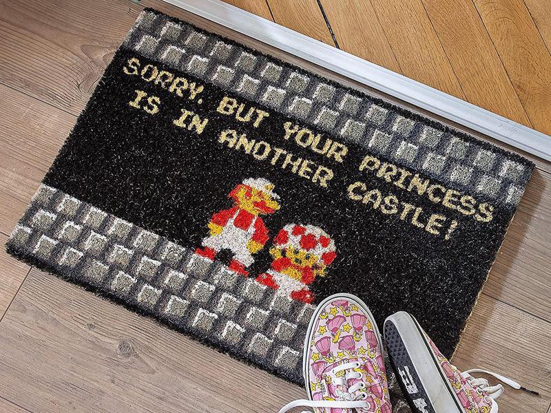Funny Super Mario doormat