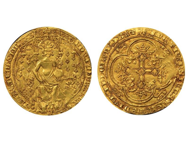 """1344 Edward III Gold """"Double Leopard"""" Florin"""