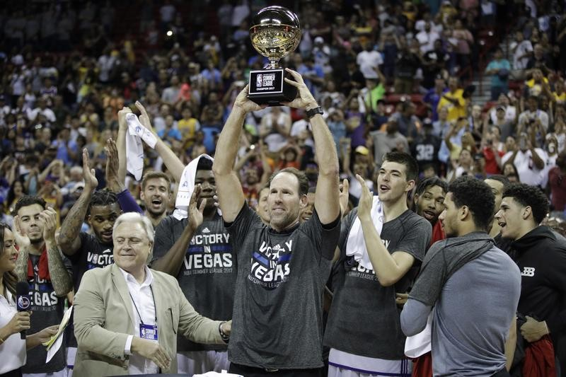 Jud Buechler with Los Angeles Lakers summer team