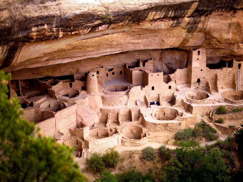 Native Anasazi cliff dwellings