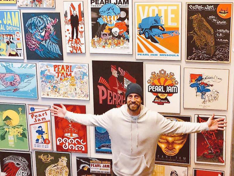 Aaron Rodgers and Pearl Jam posters