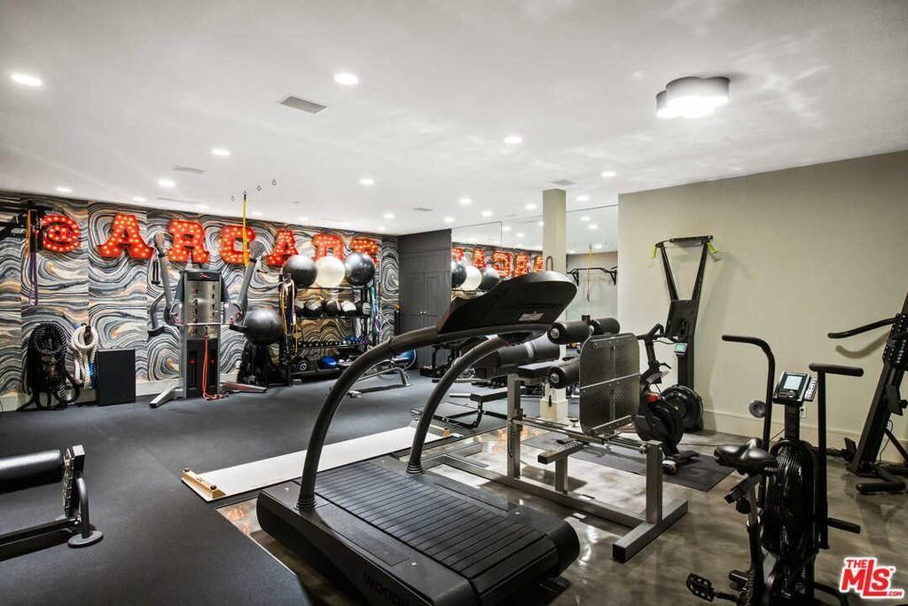 Gym and game room