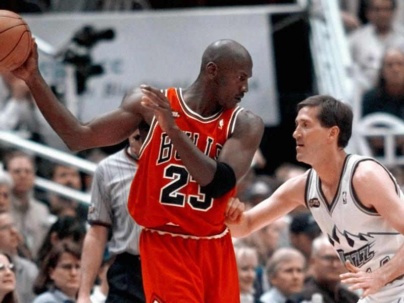 Michael Jordan and Jeff Hornacek
