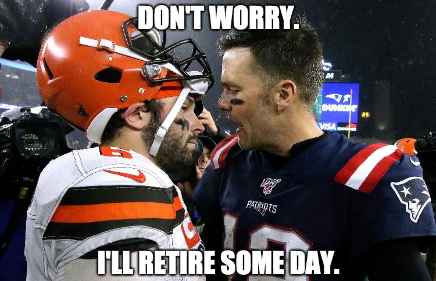 Tom Brady and Baker Mayfield