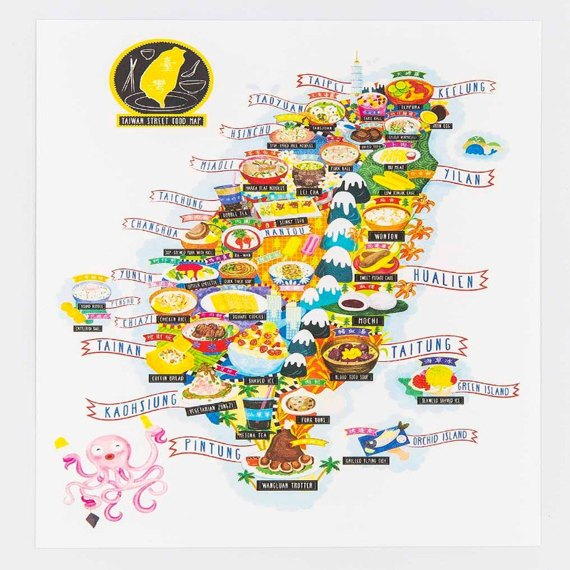 Map of Taiwan street food