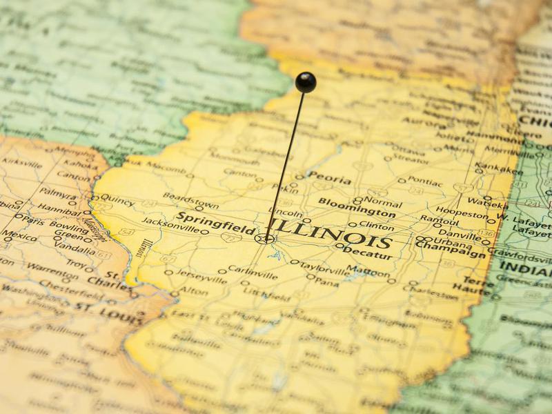 Travel Map Of Springfield Illinois