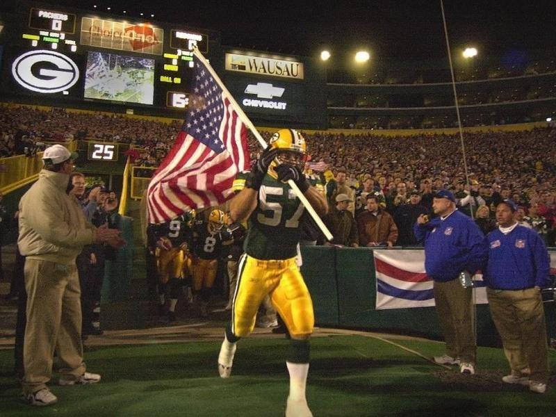 Green Bay Packers linebacker Chris Gizzi