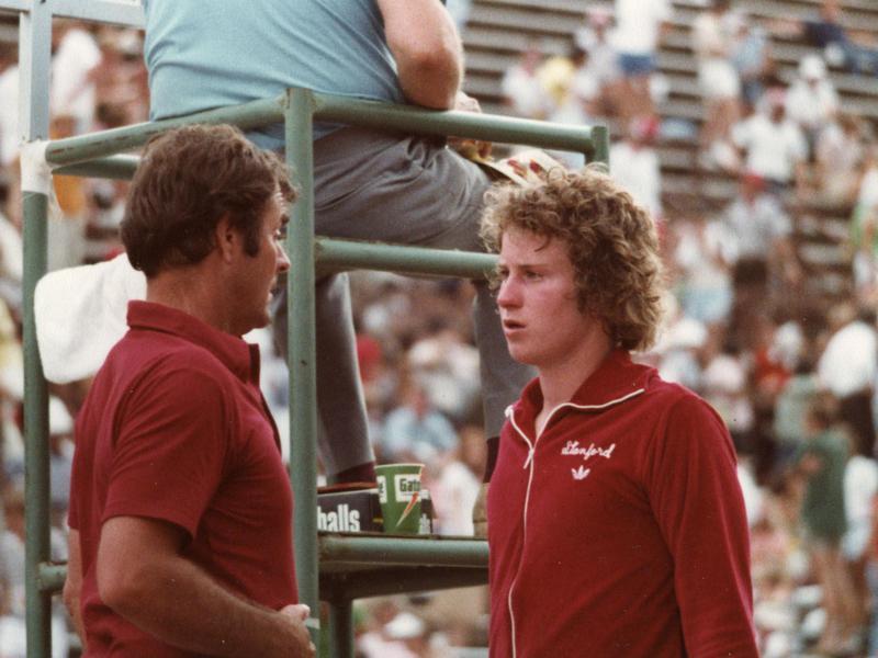 Dick Gould and John McEnroe