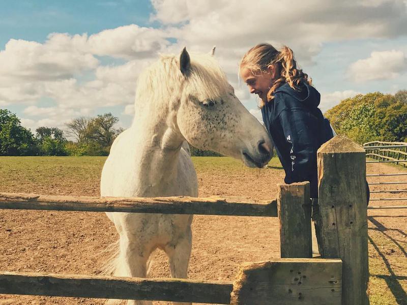Little girl and her Connemara pony