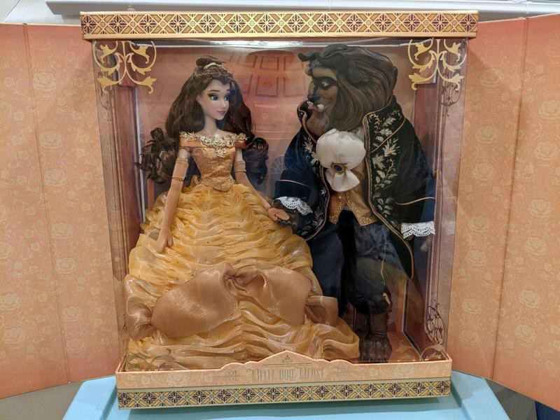 """Belle and the Beast 17"""" Platinum Dolls"""