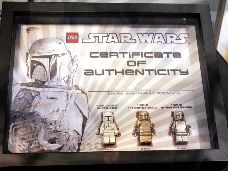 Boba Fett Lego Minifigure – Sterling Silver Promotional Giveaway (2010)