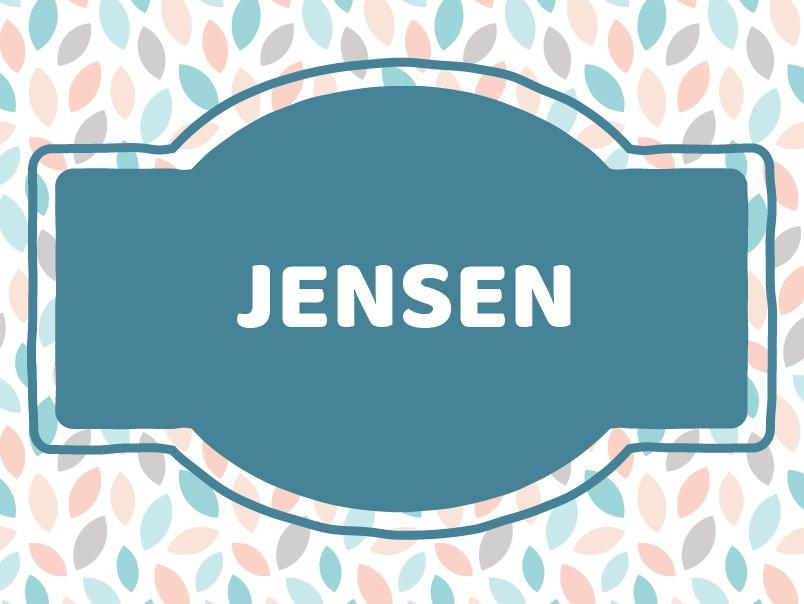 J Name Ideas: Jensen