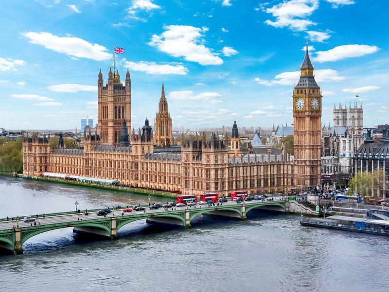 Westminster palace and Big Ben tower, London, UK