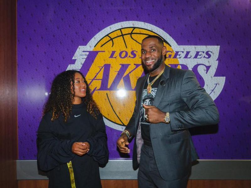 Naomi Osaka and LeBron James