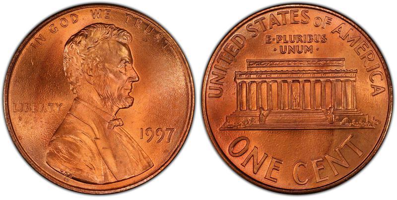 1997 U.S. Double Ear Lincoln Penny