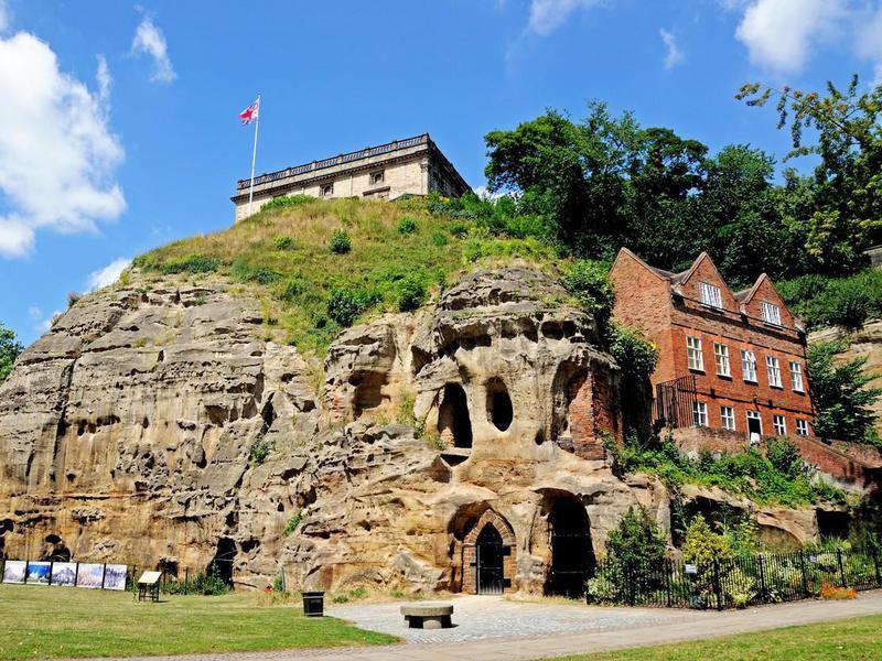 Castle mound caves, Nottingham