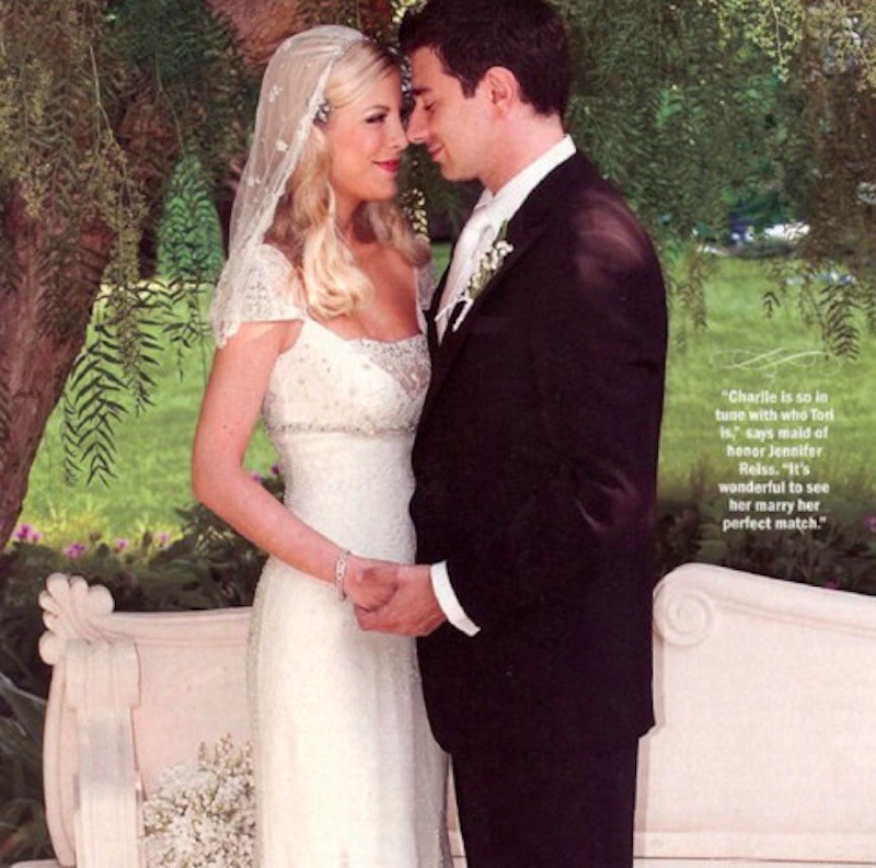 Tori Spelling and Charlie Shanian wedding