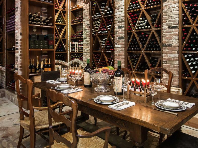 Palazzo di Amore wine cellar