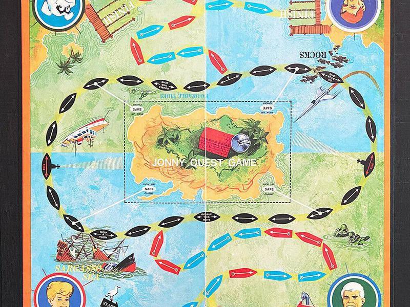 Transogram Jonny Quest Board Game