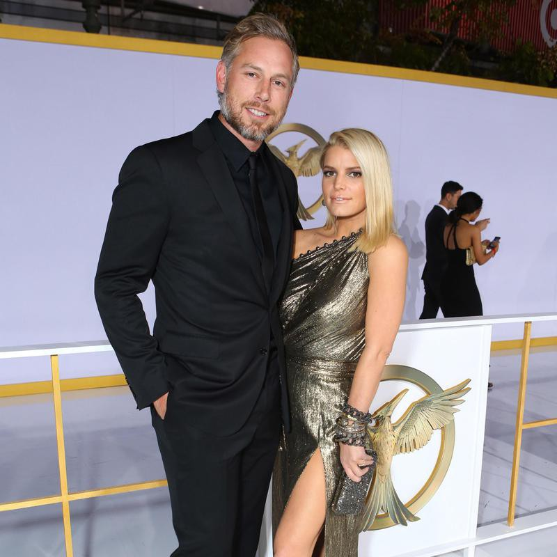 """Eric Johnson and Jessica Simpson seen at Los Angeles Premiere of Lionsgate's """"The Hunger Games"""