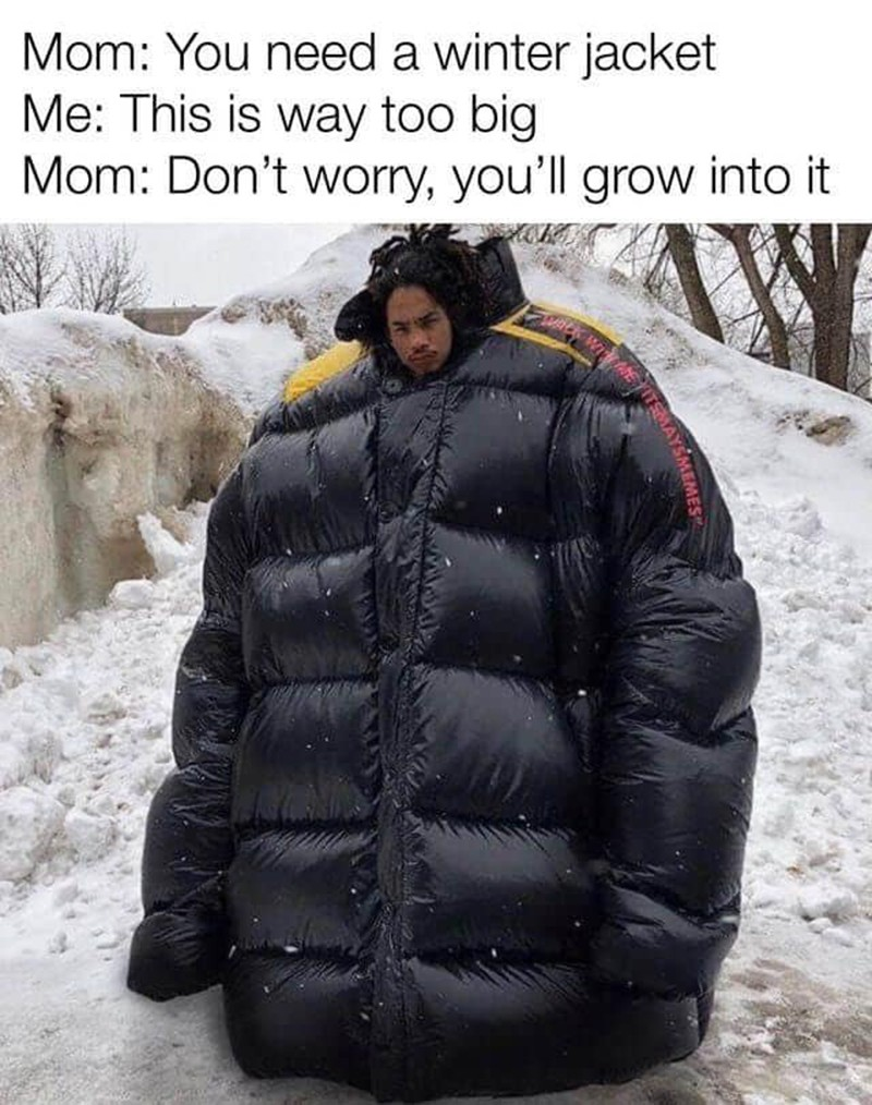 Now that's a big jacket