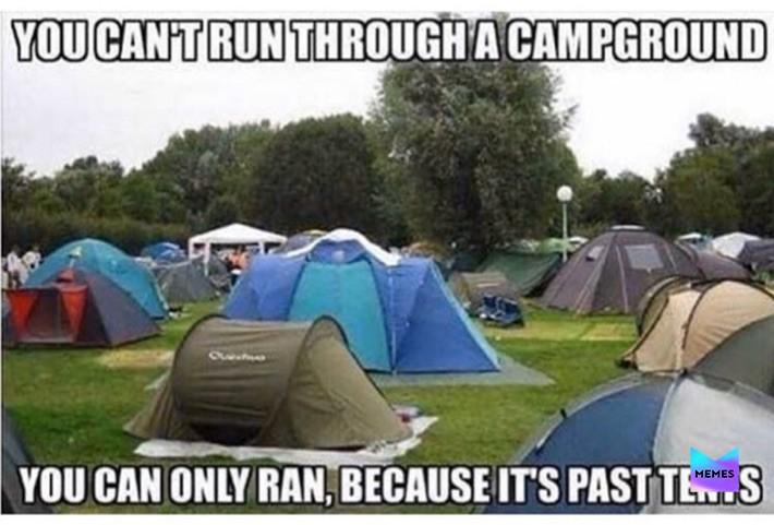 Camping puns