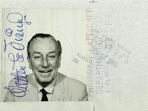 Walt Disney's passport