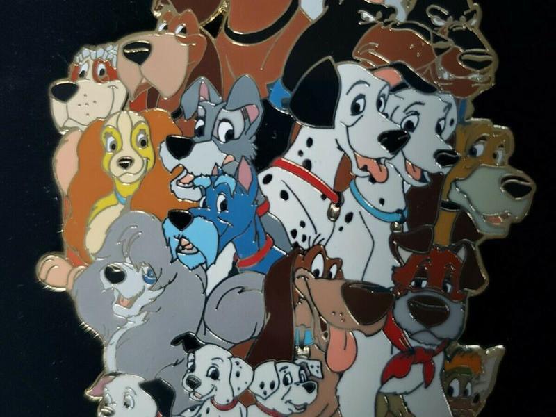 Disney Auctions Jumbo Disney Dogs Pin