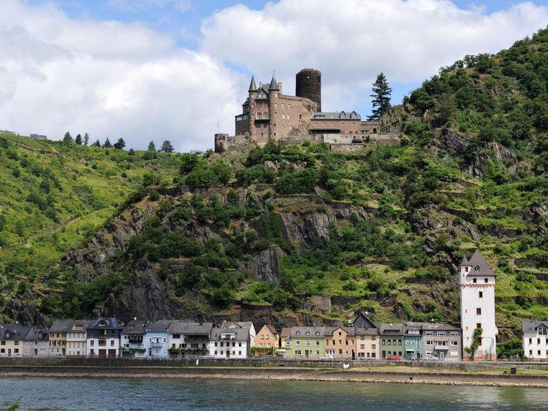 Katz Castle in Upper Middle Rhine Valley