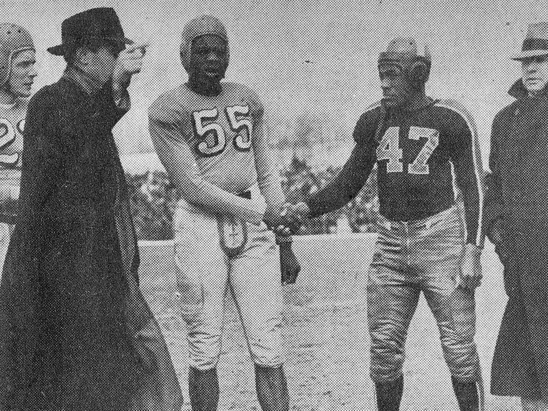 Massillon High head coach Paul Brown and Horace Gillom