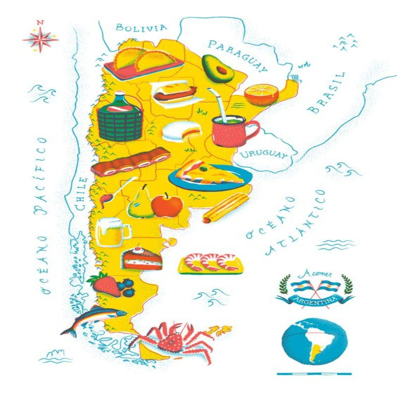 Food map of Argentina