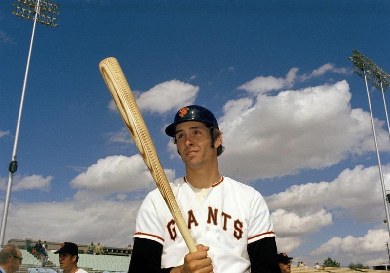 Dave Kingman poses with bat