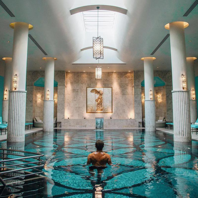 Gorgeous Indoor Hotel Pool in Istanbul