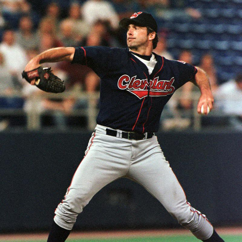 Cleveland Indians' pitcher Chuck Finley delivers pitch