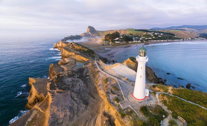 Castle Point lighthouse in New Zealand