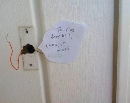 Connect wires to ring bell