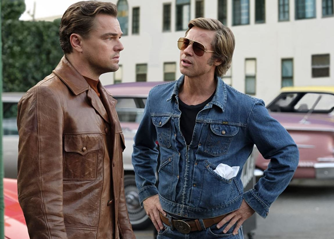 Once Upon a Time in Hollywood with Leonardo DiCaprio and Brad Pitt