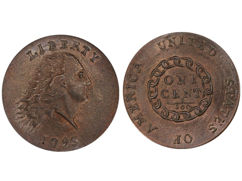 1793 Chain Flowing Hair Cent