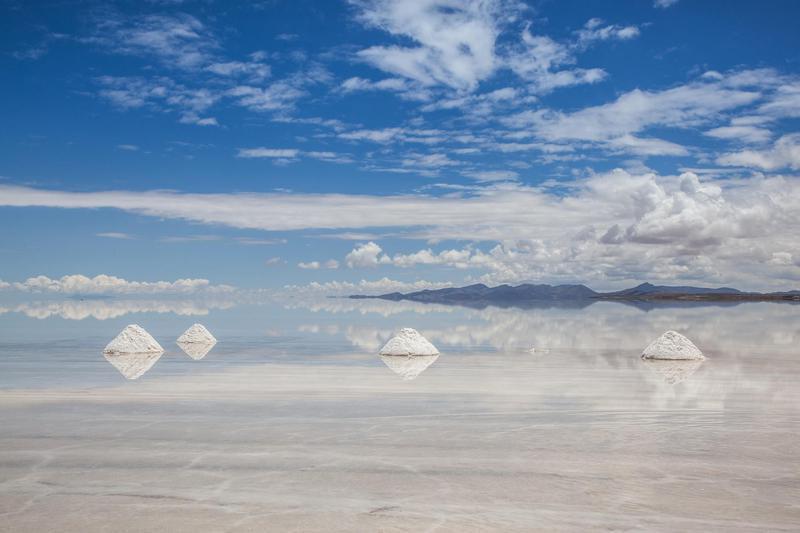 Salt Piles in Salar de Uyuni