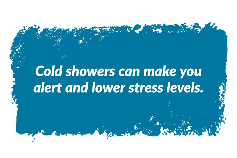 Consider taking a cold shower as one of your 'morning hacks'