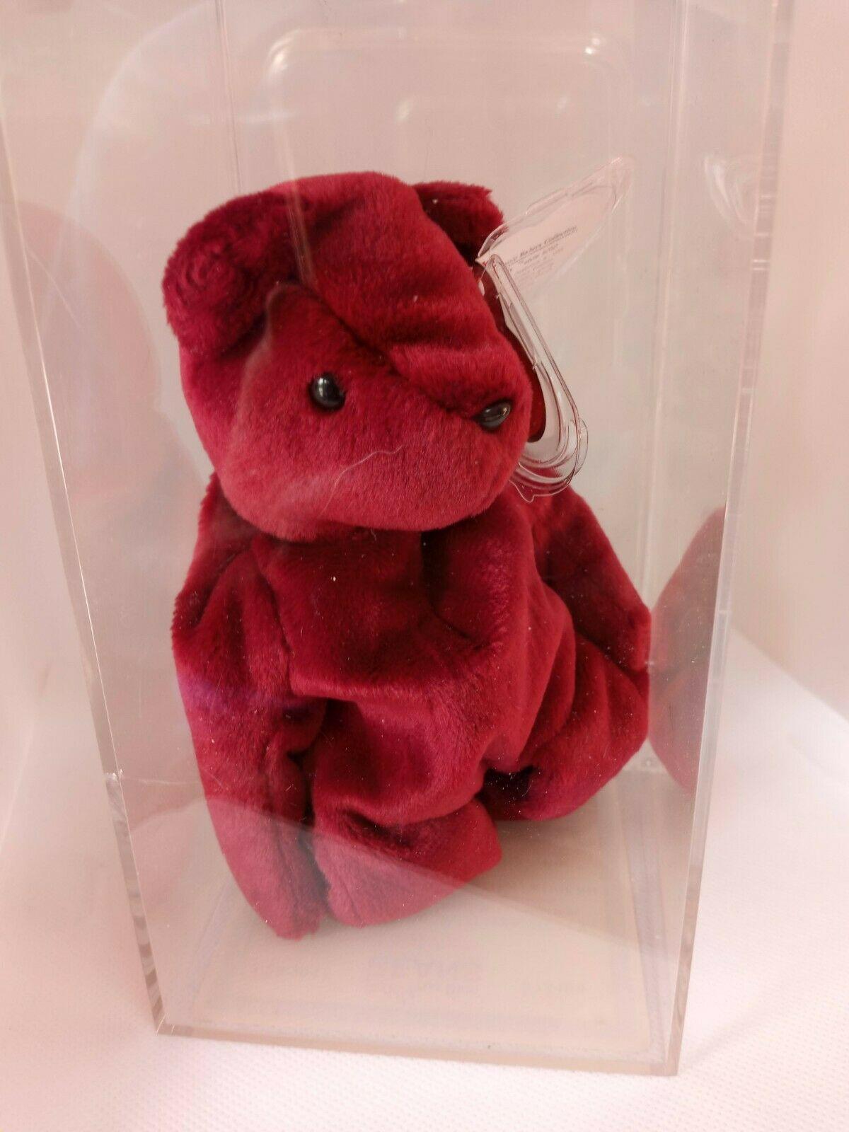 Cranberry Teddy (With Geman/Korean Tags) Beanie Baby