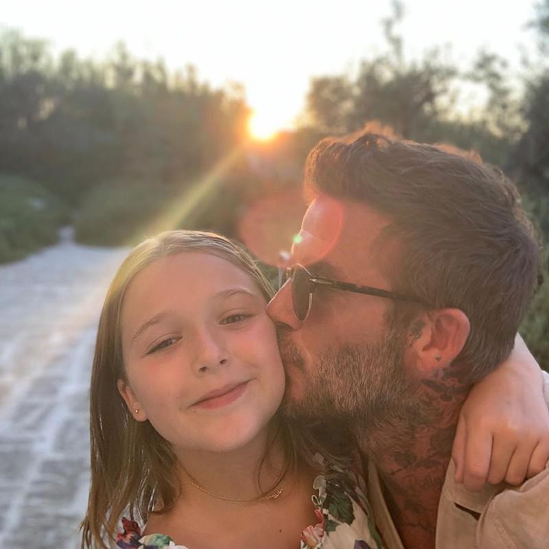 David Beckham and Daughter Harper