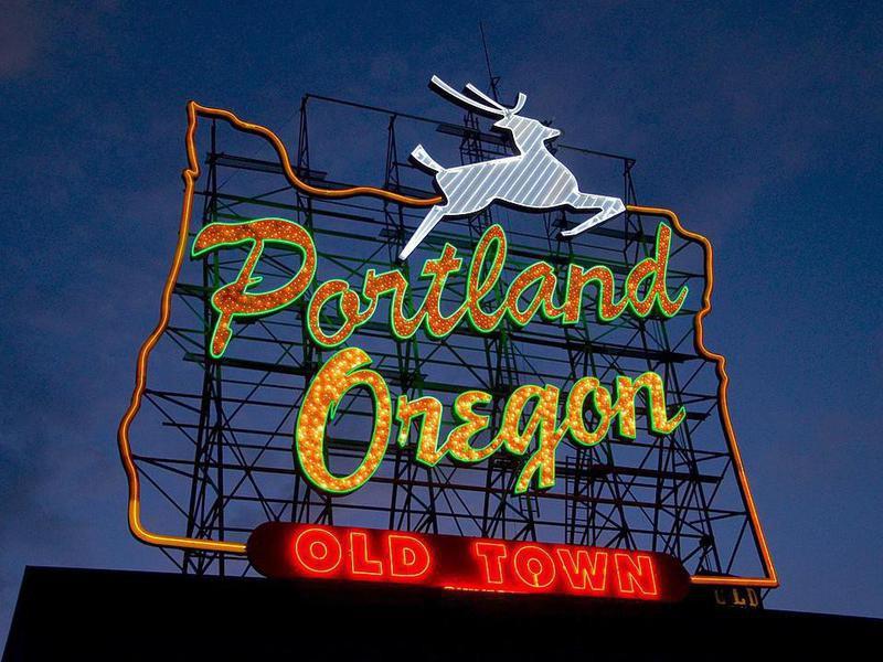 White Stag sign in Portland, Oregon