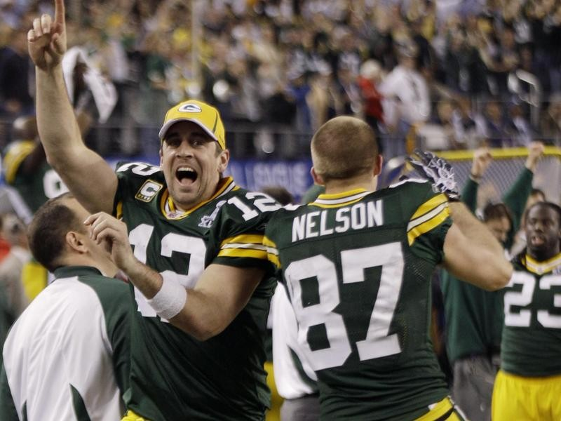 Aaron Rodgers in Super Bowl XLV
