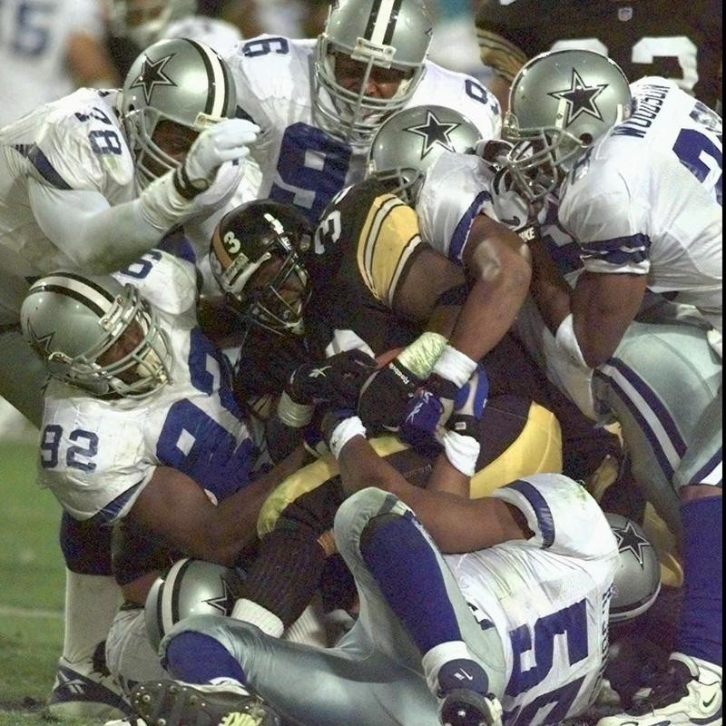 Steelers and Cowboys in Super Bowl XXX