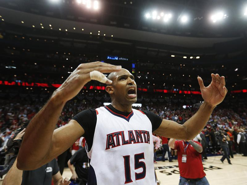 Atlanta Hawks Al Horford celebrates
