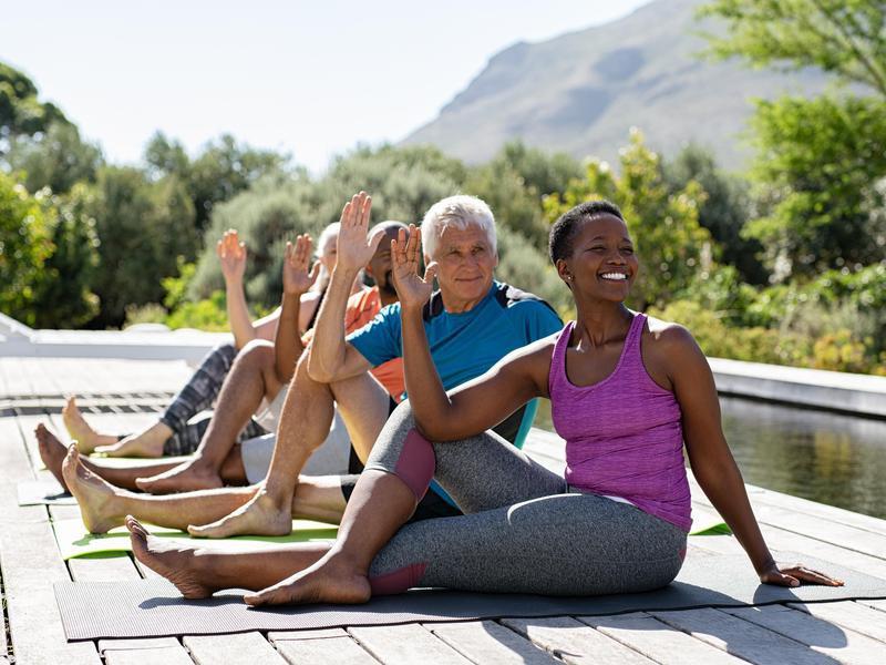 Yoga outdoor class