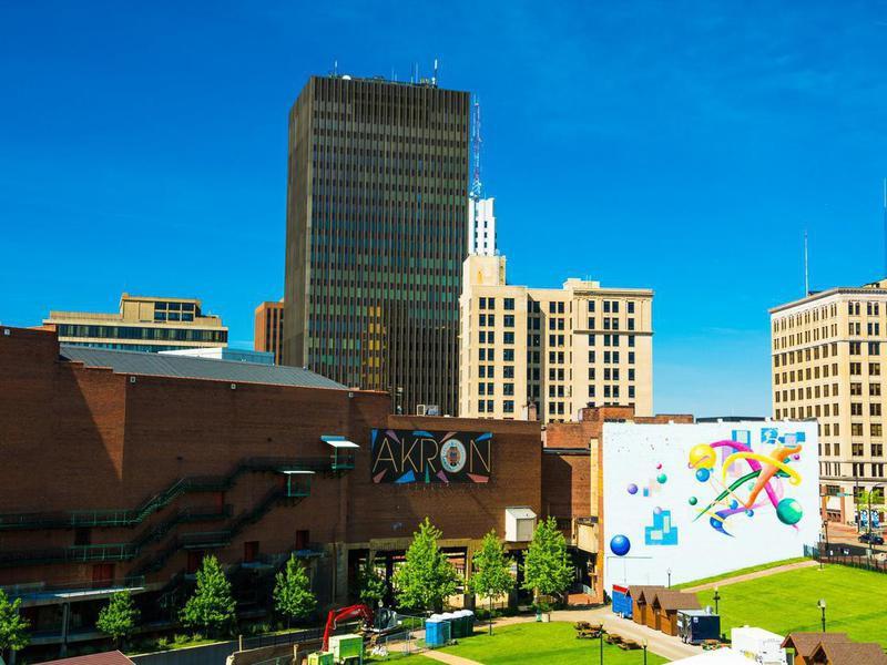 Downtown Akron Skyline